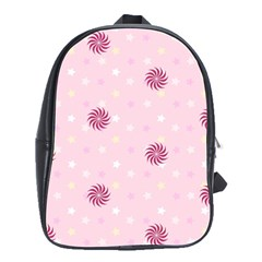 Star White Fan Pink School Bags(large)