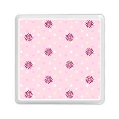 Star White Fan Pink Memory Card Reader (square)
