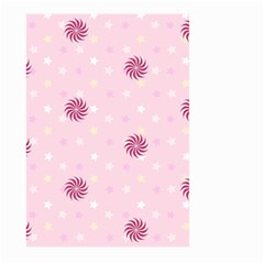 Star White Fan Pink Large Garden Flag (two Sides)