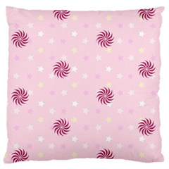 Star White Fan Pink Large Cushion Case (one Side)