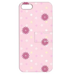 Star White Fan Pink Apple Iphone 5 Hardshell Case With Stand