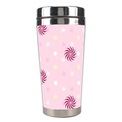 Star White Fan Pink Stainless Steel Travel Tumblers
