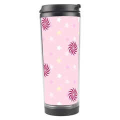Star White Fan Pink Travel Tumbler