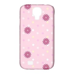 Star White Fan Pink Samsung Galaxy S4 Classic Hardshell Case (pc+silicone)
