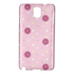 Star White Fan Pink Samsung Galaxy Note 3 N9005 Hardshell Case
