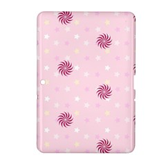 Star White Fan Pink Samsung Galaxy Tab 2 (10 1 ) P5100 Hardshell Case