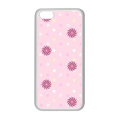 Star White Fan Pink Apple Iphone 5c Seamless Case (white)