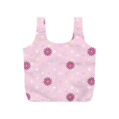 Star White Fan Pink Full Print Recycle Bags (s)