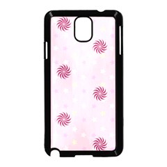 Star White Fan Pink Samsung Galaxy Note 3 Neo Hardshell Case (black)