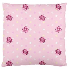 Star White Fan Pink Large Flano Cushion Case (two Sides)