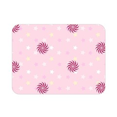 Star White Fan Pink Double Sided Flano Blanket (mini)