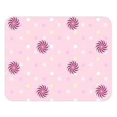 Star White Fan Pink Double Sided Flano Blanket (large)  by Alisyart