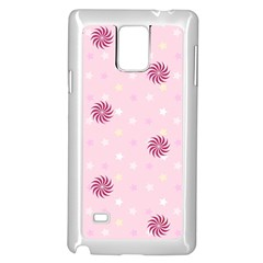 Star White Fan Pink Samsung Galaxy Note 4 Case (white)