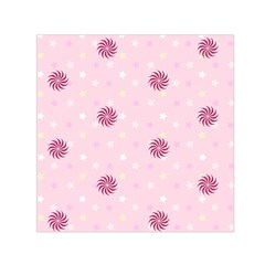 Star White Fan Pink Small Satin Scarf (square) by Alisyart