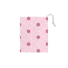 Star White Fan Pink Drawstring Pouches (xs)