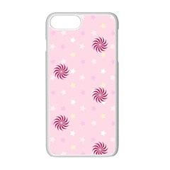 Star White Fan Pink Apple Iphone 7 Plus White Seamless Case