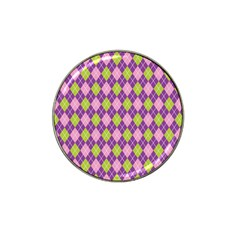 Plaid Triangle Line Wave Chevron Green Purple Grey Beauty Argyle Hat Clip Ball Marker (10 Pack)