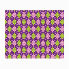 Plaid Triangle Line Wave Chevron Green Purple Grey Beauty Argyle Small Glasses Cloth (2 Side) by Alisyart