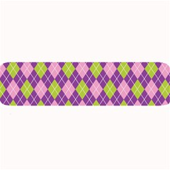 Plaid Triangle Line Wave Chevron Green Purple Grey Beauty Argyle Large Bar Mats by Alisyart