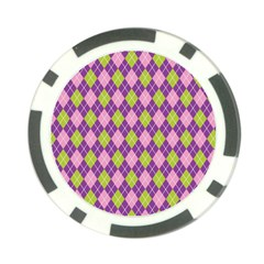 Plaid Triangle Line Wave Chevron Green Purple Grey Beauty Argyle Poker Chip Card Guard (10 Pack)