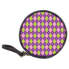 Plaid Triangle Line Wave Chevron Green Purple Grey Beauty Argyle Classic 20 Cd Wallets