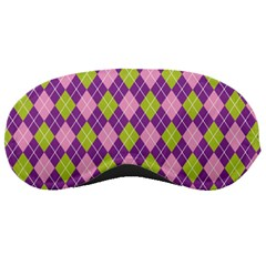 Plaid Triangle Line Wave Chevron Green Purple Grey Beauty Argyle Sleeping Masks by Alisyart