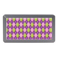 Plaid Triangle Line Wave Chevron Green Purple Grey Beauty Argyle Memory Card Reader (mini)