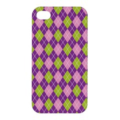 Plaid Triangle Line Wave Chevron Green Purple Grey Beauty Argyle Apple Iphone 4/4s Hardshell Case