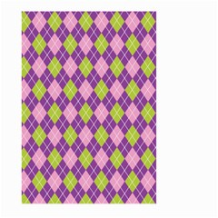 Plaid Triangle Line Wave Chevron Green Purple Grey Beauty Argyle Large Garden Flag (two Sides) by Alisyart