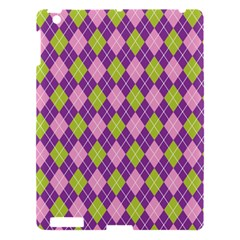 Plaid Triangle Line Wave Chevron Green Purple Grey Beauty Argyle Apple Ipad 3/4 Hardshell Case