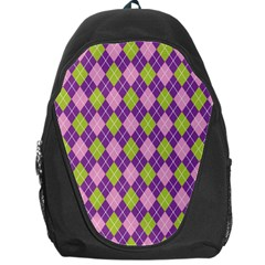 Plaid Triangle Line Wave Chevron Green Purple Grey Beauty Argyle Backpack Bag