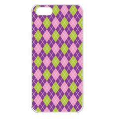 Plaid Triangle Line Wave Chevron Green Purple Grey Beauty Argyle Apple Iphone 5 Seamless Case (white)