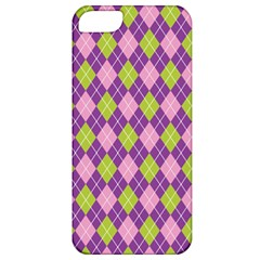 Plaid Triangle Line Wave Chevron Green Purple Grey Beauty Argyle Apple Iphone 5 Classic Hardshell Case