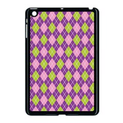 Plaid Triangle Line Wave Chevron Green Purple Grey Beauty Argyle Apple Ipad Mini Case (black)