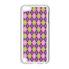 Plaid Triangle Line Wave Chevron Green Purple Grey Beauty Argyle Apple Ipod Touch 5 Case (white)