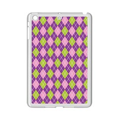 Plaid Triangle Line Wave Chevron Green Purple Grey Beauty Argyle Ipad Mini 2 Enamel Coated Cases