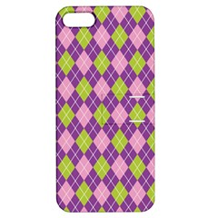 Plaid Triangle Line Wave Chevron Green Purple Grey Beauty Argyle Apple Iphone 5 Hardshell Case With Stand