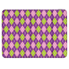 Plaid Triangle Line Wave Chevron Green Purple Grey Beauty Argyle Samsung Galaxy Tab 7  P1000 Flip Case