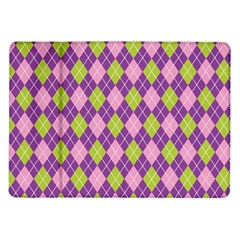 Plaid Triangle Line Wave Chevron Green Purple Grey Beauty Argyle Samsung Galaxy Tab 10 1  P7500 Flip Case
