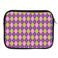 Plaid Triangle Line Wave Chevron Green Purple Grey Beauty Argyle Apple Ipad 2/3/4 Zipper Cases
