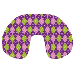 Plaid Triangle Line Wave Chevron Green Purple Grey Beauty Argyle Travel Neck Pillows