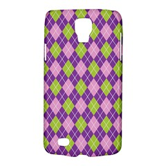 Plaid Triangle Line Wave Chevron Green Purple Grey Beauty Argyle Galaxy S4 Active