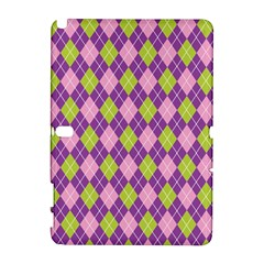 Plaid Triangle Line Wave Chevron Green Purple Grey Beauty Argyle Galaxy Note 1