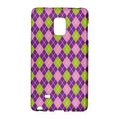 Plaid Triangle Line Wave Chevron Green Purple Grey Beauty Argyle Galaxy Note Edge by Alisyart