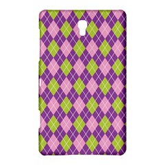 Plaid Triangle Line Wave Chevron Green Purple Grey Beauty Argyle Samsung Galaxy Tab S (8 4 ) Hardshell Case  by Alisyart