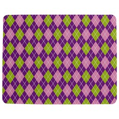 Plaid Triangle Line Wave Chevron Green Purple Grey Beauty Argyle Jigsaw Puzzle Photo Stand (rectangular)