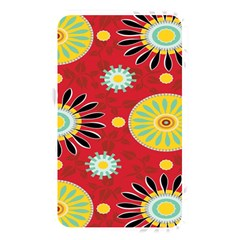 Sunflower Floral Red Yellow Black Circle Memory Card Reader by Alisyart