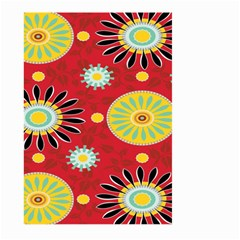 Sunflower Floral Red Yellow Black Circle Large Garden Flag (two Sides)