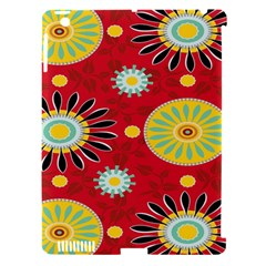 Sunflower Floral Red Yellow Black Circle Apple Ipad 3/4 Hardshell Case (compatible With Smart Cover)