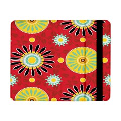 Sunflower Floral Red Yellow Black Circle Samsung Galaxy Tab Pro 8 4  Flip Case by Alisyart
